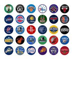 NBA Basketball Logos Printable Digital Collage by shadowdancer2, $3.00