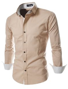 TheLees Mens unique double collar shirts at Amazon Men's Clothing store: Button Down Shirts