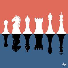 Simple Minimalist #Chess Set Download #free by Graphic Designer Marc Dahl
