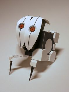 "Papercraft ""FrankenTurret"" from Portal 2!! Free template at link."