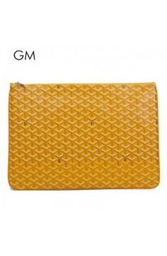 Goyard Clutch Bag GM Yellow Goyard Clutch, Clutch Bag, Shoe Bag, Yellow, Bags, Shoes, Handbags, Zapatos, Shoes Outlet