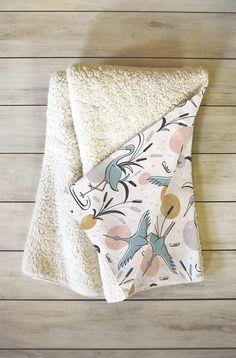 Fleece Throw Blanket // Nature Inspired // Sherpa Blanket // Dorm Decor // Marshland Design // Cozy