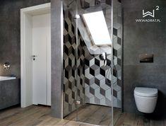 Zdjęcie w trakcie realizacji projektu łazienki z mozaiką heksagonalną Bathroom Interior Design, Toilet, Flush Toilet, Toilets, Toilet Room, Bathrooms