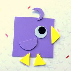 Birds come in all shapes and sizes.   And some birds come in just SHAPES! :)   Here is a fun and educational craft you can do with...