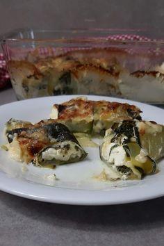 Zucchini Röllchen veggie mit Spinat und Feta Zucchini Sticks, Feta, Quiche, Food And Drink, Veggies, Breakfast, Wordpress, Archive, Recipes