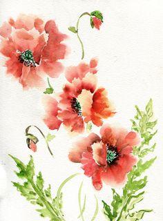 Poppies by KateHavekostFineArt (85.00 USD) http://ift.tt/1MapVuM