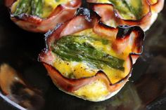 Gluten Free Asparagus and Ham Egg Cups - Breakfast is done!