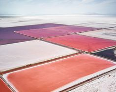I can't get over the breathtaking range of color emitting from these otherwise prosaic salt flats and dry lake beds, captured so brilliantly by David Burdeny. The Canadian photographer spent years flying over salterns in Western Australia, Utah's Great Salt Lake and the Mojave Desert, during