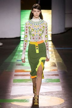 Peter Pilotto:  Once you knew what the conceit was, it was almost like a game to call out familiar childhood pursuits. But more fun was picking out which knit, pencil skirt or belted coat would be on closet deck come fall.