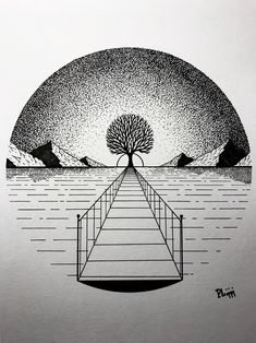 Ink Illustrations with a Meaning Dotted Drawings, Art Drawings Sketches Simple, Pencil Art Drawings, Cool Drawings, Tattoo Sketches, Tattoo Drawings, Tattoos, Circle Drawing, Stippling Art