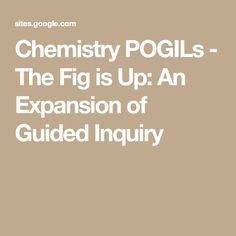 A full advanced chemistry curriculum for high school and middle this site is a listing of pogil lessons and activities to help other teachers get a good idea of how to create their own fandeluxe Images