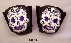 Black Leather Roller Derby Skate toe guards with by RedRage77