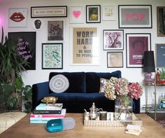 Welcome to the fourth installment of the Wall Around the World series, where Lisa gives us the inside scoop on her upcycled eclectic gallery walls. Kitchen Gallery Wall, Eclectic Gallery Wall, Gallery Wall Layout, Eclectic Decor, Gallery Walls, Glam Bedroom, Bedroom Wall, Bedroom Ideas, Living Room Update
