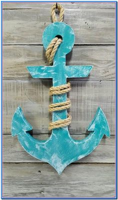 This item is unavailable - Nautical Wood Anchor with Rope Beach Decor Nautical Decor Best Picture For diy For Your Taste You - Arte Pallet, Wood Anchor, Deco Marine, Man Cave Wall Decor, Nautical Home, Best Pillow, Woodworking Workshop, Beach Crafts, Wood Working For Beginners