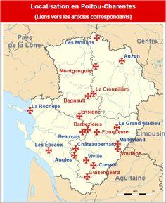 Commanderies templières en Poitou-Charentes, France