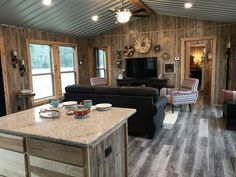 Always an eye catcher, the one bed one bath Rodeo is 684 square feet packed full of features including a screened corner porch great for enjoying morning coffee. Tiny House Layout, Shed To Tiny House, Tiny House Cabin, Tiny House Living, House Layouts, 2 Bedroom House Plans, Barn House Plans, Small House Plans, House Floor Plans