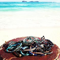 Sisco + Berluti bracelets in a pile of jewels from Calypso!