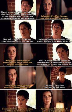 """""""The Vampire Diaries"""":7x02 Damon (Ian Somerhalder) and Lillian (Annie Wersching)"""