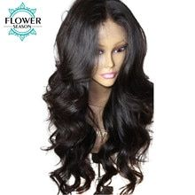 FlowerSeason Wavy Lace Front Human Hair Wigs For Women Natural Black Peruvian Remy Human Hair Pre Plucked With Baby Hair Front Remy Hair Wigs, Human Hair Lace Wigs, Remy Human Hair, Front Hair Styles, Hair Front, Silk Base Wig, Brazilian Lace Front Wigs, Cheap Human Hair, Lace Hair