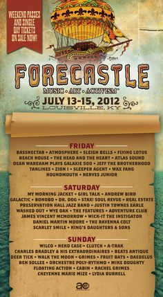 My first Forecastle Festival 2012. One of the best weekends of my life. #MYFORECASTLE