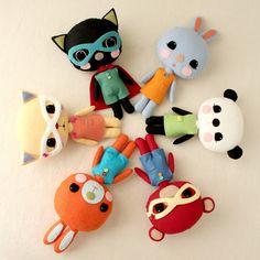 Bunny, Kitten  Bear Plush Toy Pattern - great for Easter baskets!