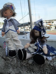 couple in a sailor's uniform by Grindolls on Etsy