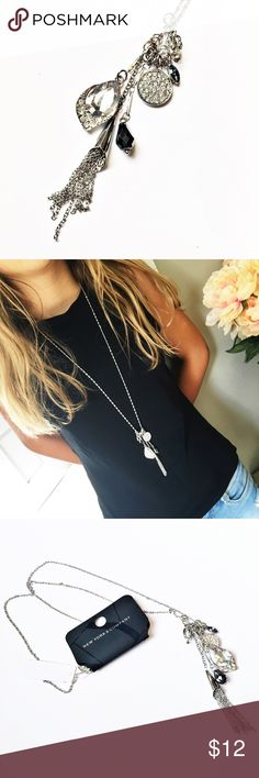 "NWT NY&Co Silver Tassel Boho Charm Necklace This beauty is 30"" long and stunning!  NWT from NY&Co. Questions? Please ask! Sorry, no trades. Bundle for a discount! New York & Company Jewelry Necklaces"