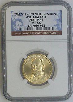 Coin: 2013 P Presidential Dollar Ms-66 Ngc Twenty Seventh President William Taft 2013 P $1 Ms66