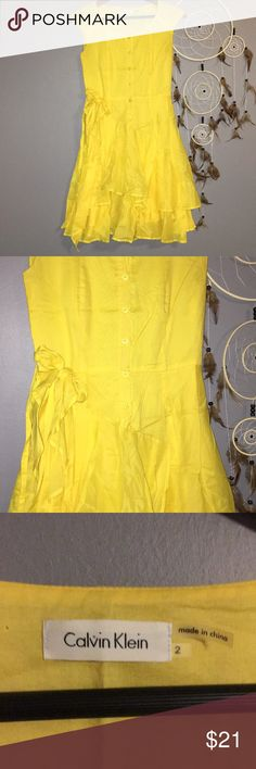 Like New - Spring Dress Adorable Calvin Klein spring dress. Never worn, but removed tags. Calvin Klein Dresses Asymmetrical