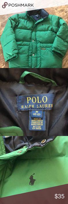 Youth Boys Ralph Lauren puffer coat Boys youth 10-12 Ralph Lauren coat. Green with navy emblem. Excellent condition! Ralph Lauren Jackets & Coats Puffers