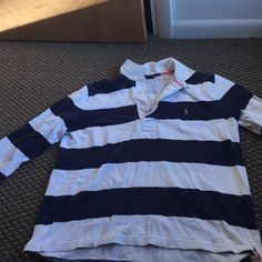Ralph Lauren Adorable blue and white Ralph Lauren rugby shirt! Ralph Lauren Tops