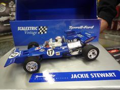 Tyrrell Ford, Serie Limitada Vintage, de Jackie Stewart, by Scalextric. Antes 49,95, ahora $39,95