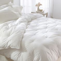 all white down bedding