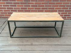 Sleek Modern Coffee Table Wood and Steel by TheSilverSteamTrunk