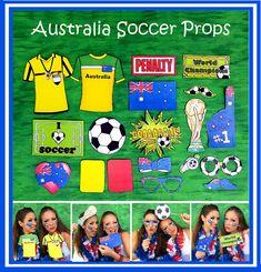 321417c6174 World Cup AUSTRALIA soccer photo booth props - the ultimate fan accessory -  2018 FIFA Soccer Championship in Russia - support Australia