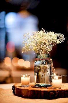 100 Rustic Wedding Centerpiece Ideas #weddings #centerpieces #vintage #vintageweddings #deerpearlflowers #fashion