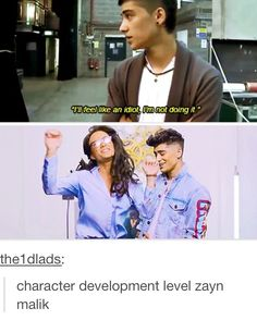 Real life character development...Zayn Malik>> can we talk about How hot Zayn looks in the pic with Veronica