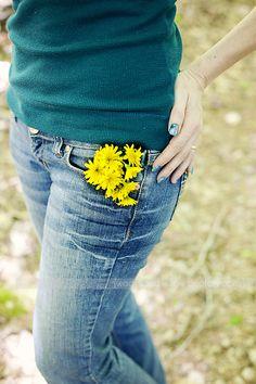 pocket full of yellow dandelions