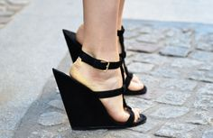 Filed under shoes I will tragically never own... YSL Totem Wedges
