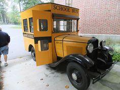 Custom 1929 Model A Ford School Bus Legendary sport car: Classic Car Art&Design Old School Bus, School Bus Driver, School Buses, Cool Trucks, Big Trucks, Pickup Trucks, Bus Camper, Campers, Cool Old Cars