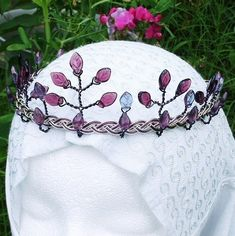Purple Celtic Fairy Wedding Tiara Titania Crown