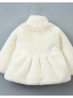 2062ceceeb82 Toddler Girls  Basic Solid Colored Long Sleeve Rabbit Fur   Polyester Suit    Blazer Pink
