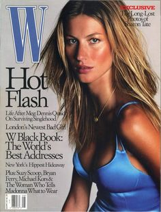 Gisele on the cover of W Magazine xoxo #beauty #model #hair
