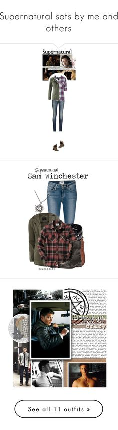 """""""Supernatural sets by me and others"""" by nico-de-angelo ❤ liked on Polyvore featuring Armani Jeans, InWear, Rails, MoMo, supernatural, samwinchester, olympianfandomoutfits, Paige Denim, Dorothy Perkins and Replay"""