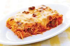 Paula Deen's Baked Spaghetti-a-la-Philly!  DELICIOUS!!!  I'll never make traditional spaghetti EVER again!!