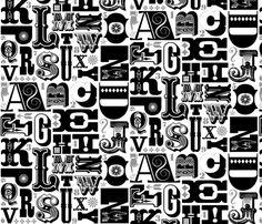 Woodtype Alphabet - Black