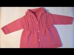 Детский жакет спицами.Пальто с косами для девочки.Ч.1.Как связать детское пальто-вязание спицами - YouTube