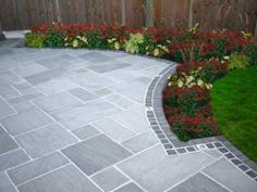 Shed DIY - driveway paving ideas (cheap paving ideas) Tags: paving ideas, garden paving ideas, driveway paving ideas Now You Can Build ANY Shed In A Weekend Even If You've Zero Woodworking Experience! Patio Slabs, Flagstone Patio, Backyard Patio, Backyard Landscaping, Patio Stone, Paver Edging, Paver Sand, Grey Pavers, Stone Patio Designs