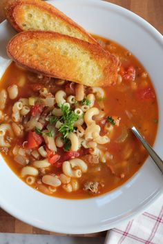 Italian Pasta and Bean Soup—Pasta e Fagioli! Perfected by America's Test Kitchen, this version has great depth of flavor, texture and takes half the time.