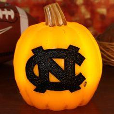 North Carolina Tar Heels (UNC) Wax Pumpkin Luminary